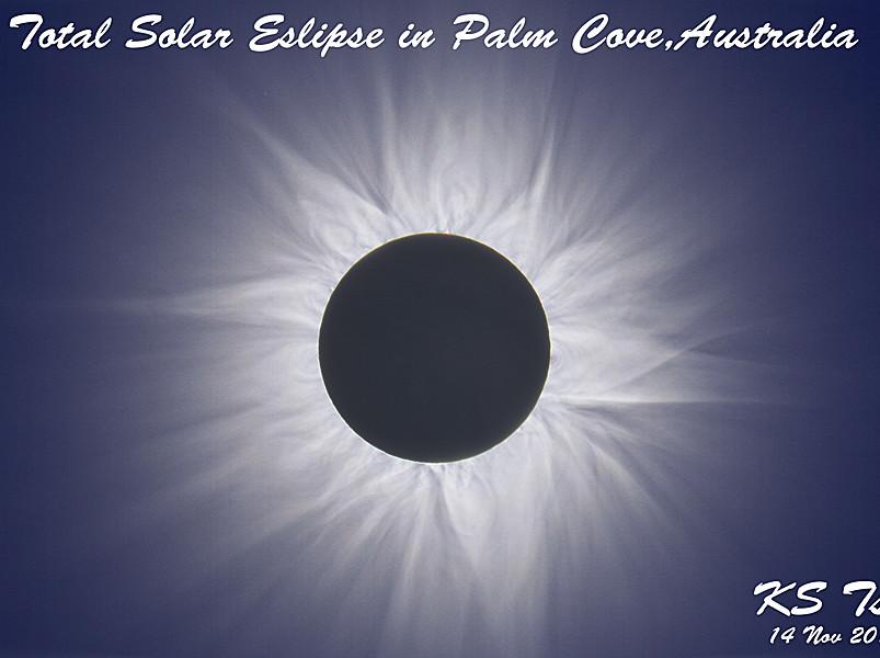HDR Total Solar Eslipse image