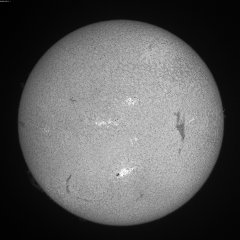 2015 Sept. 26-27 Sun -9th & 10th day of a huge filament