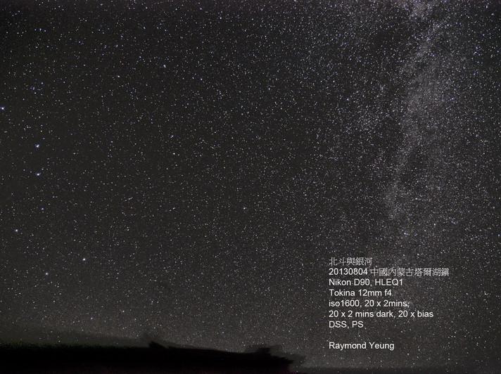 中國內蒙古塔爾湖鎮的星空