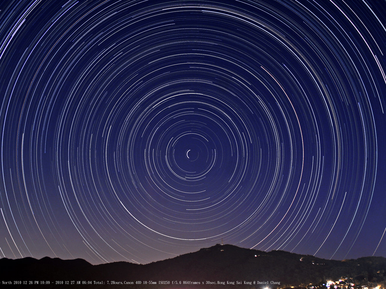 Star Trails in the North 拱極星流跡