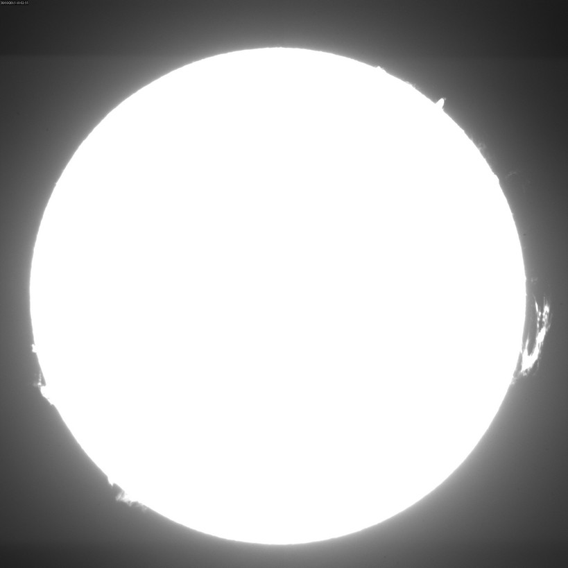 2015 Oct. 30 Sun - Huge prominence on west limb