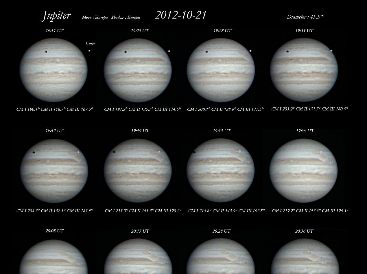 2012-10-21 19:11 UT ~ 20:36 UT 木星