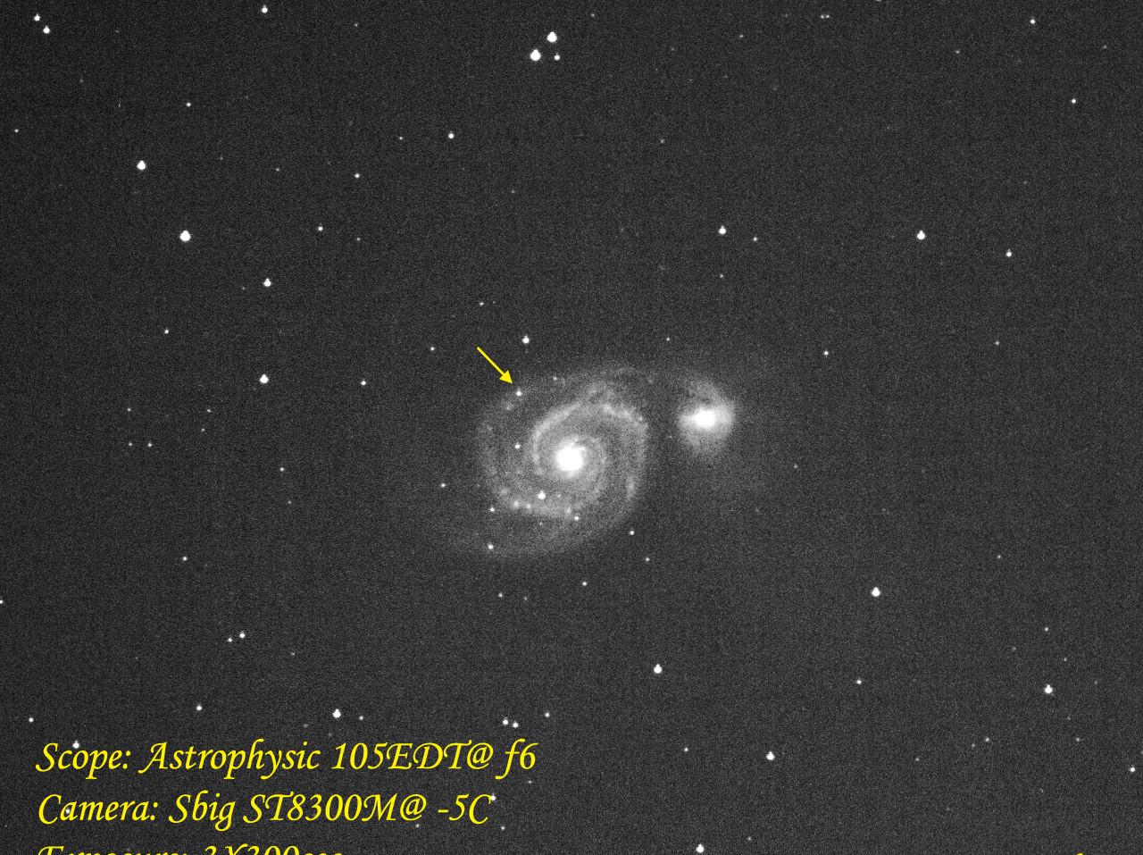 Supernova at M51