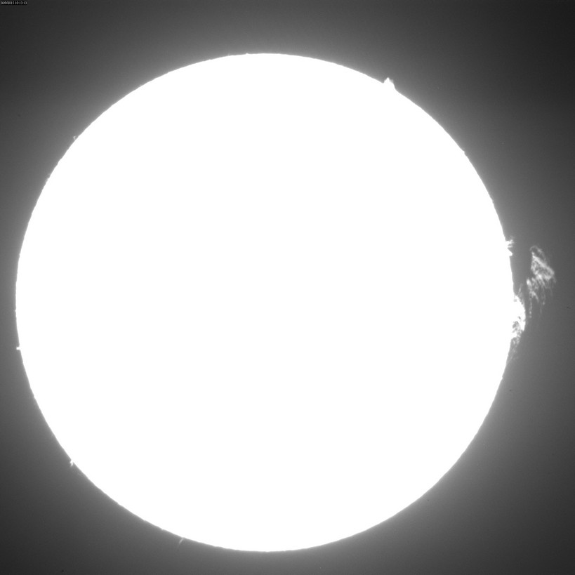 2015 Sept. 30 Sun -13th day of a huge prominence